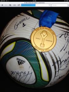 Medalha Campeão Mundial sub 20 Colombia 2011.