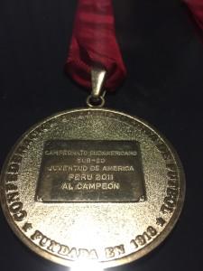 Medalha SulAmericano sub 20 Peru 2011.