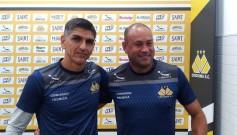 Maurício Dacoregio Rogério Maia voltarão a trabalhar juntos no Criciúma — Foto Carlos RauenNSC TV