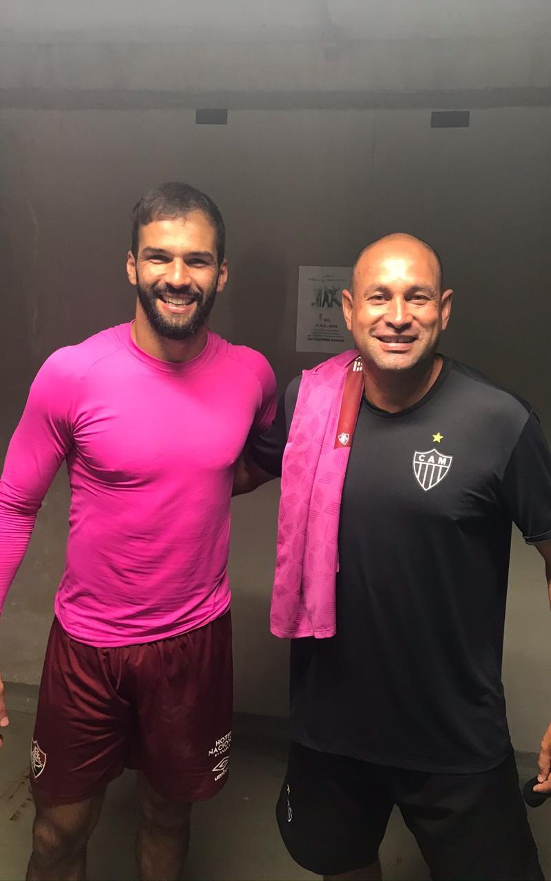 Maia e Muriel em jogo de CAM x Fluminense 2020.