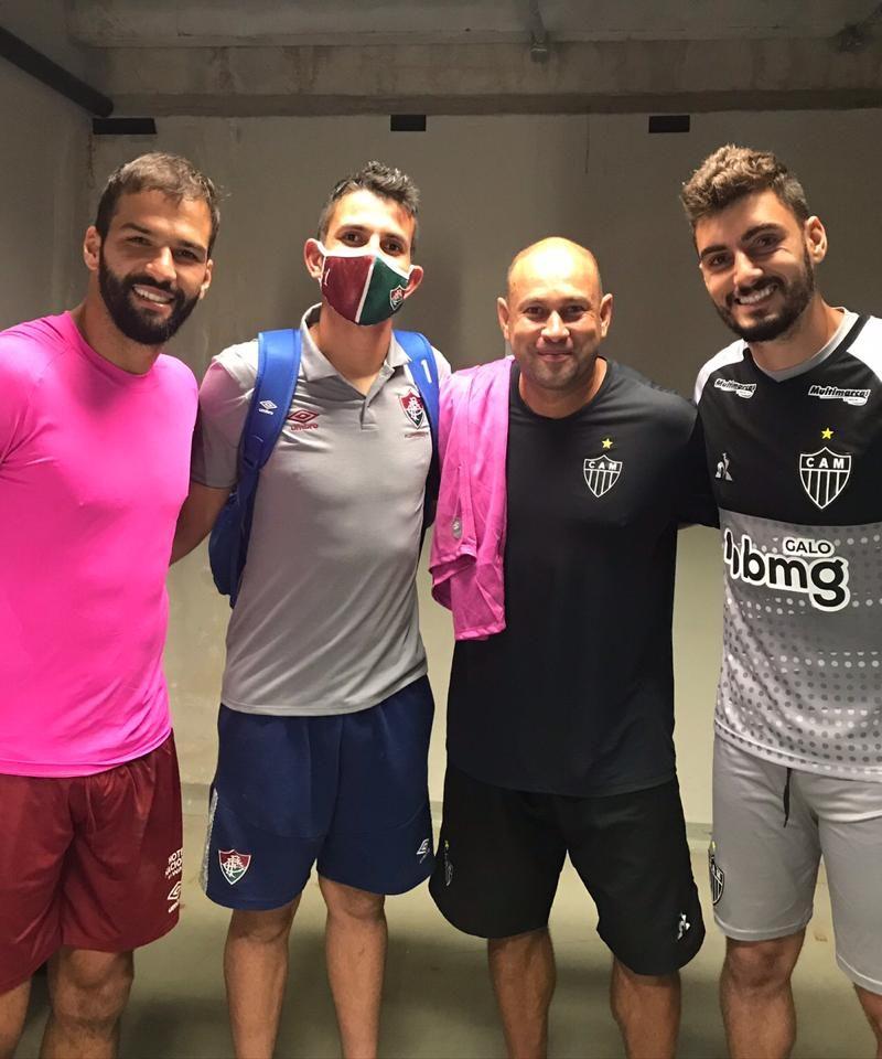 Foto com os goleiros Muriel, Marcão e Rafael