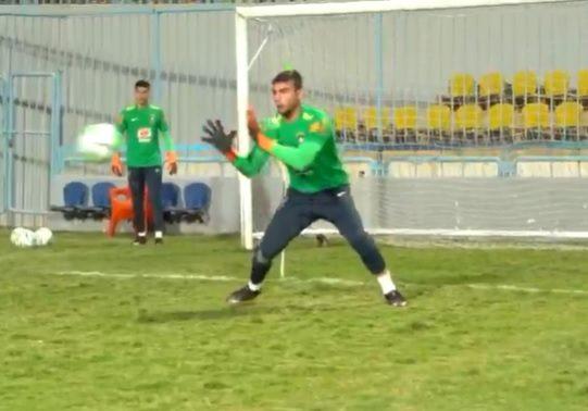 Seleção Brasileira Olímpica 2020 no Egito goleiro Phelipe Magiolaro.