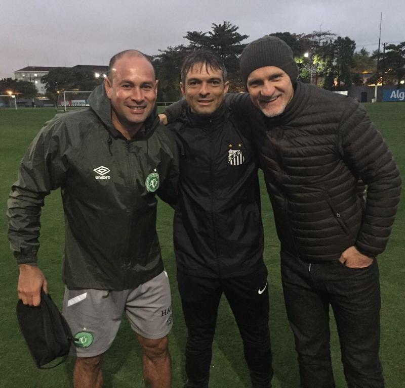 Treino da Chapecoense no CT do  Santos FC com Tafarel e Rogério Lima 2017.